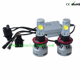 Wholesale Fiat Trucks - H13 h4 72W CREE LED Headlight High Low Universal 12V 24V Car Truck White 6500K 6400lm H7 9005 9006 9004 9007