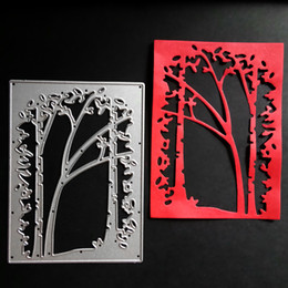 Wholesale painted photo frame - Tree Frame Metal Cutting Dies Embossing Scrapbooking Stencils Craft For DIY Card Album Photo Painting Decoration