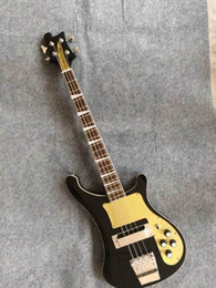 Wholesale Pickguard Gold - New arrival 4003 electric bass body no route no hardware with gold pickguard in black 150909