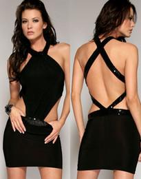 Wholesale Ladies Nightwear Hot - w1024 Hot Sale New Sexy Black Chemise Ladies Lingerie Backless Women Skinny Mini Dress NightWear Intimates YH034 free shipping