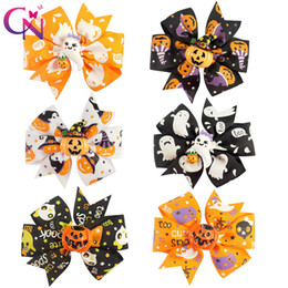 """Wholesale Grossgrain Ribbon Clips - 30 Pieces  Lot 3 """"Halloween Hair Bows With Clip For Kids Girls Princess Pinwheel Grossgrain Ribbon Bows Hairpin Hair Accessories"""