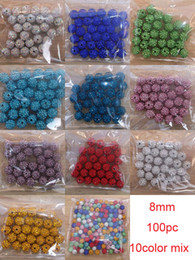 Wholesale Disco Ball Beads 8mm - Wholesale-Freeshipping 100pc lot mix 10 color 8mm Cz Crystal Disco Ball Shamballa Beads fit shamballa bracelet or neckalce