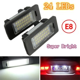 Wholesale Bmw E39 License Plate Light - 2X E-marked OBC Error Free 24 LED White License Number Plate Light Lamp For BMW E81 E82 E90 E91 E92 E93 E60 E61 E39 X1 E84 order<$18no track