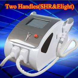 Wholesale Ipl Lamps - 300,000 shots opt shr ipl portable SHR IPL hair removal devices 2 Handles-SHR Handle&Elight Handle UK imported lamp Breast Lift up