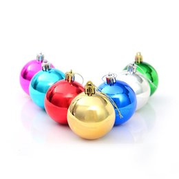 Wholesale Christmas Tree Lights Cheap - 6pcs lot 7-10cm Adornos Navidad 2015,Plastic Lighted Styrofoam Ball,High Quality Cheap Price Christmas Tree Decoration.
