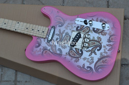 Wholesale Electric Guitar Decals - OEM Factory Quality TL-High Quality New Arrival F atocaster 6 string Silver decals Electric Guitar