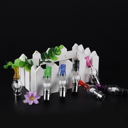 Wholesale Glass Oil Bulb - Glass Globe Atomizer Dome Tank with for Wax Oil Vaporizer Ceramic Heater bulb shape ego 510 series vape pen
