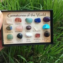 Wholesale Minerals Gemstones - 15 crystal 3D identifier gemstone minerals new age gift collectables pagan natural stones and minerals Teaching specimens