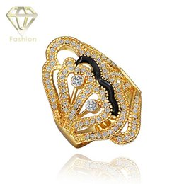 Wholesale New Arrival Jewellery Set - Prince Jewellery New Arrivals Classic 18K Rose Gold Plated Ring Fashion Jewelry Geometrical Inlaid Crystal Rings for Women