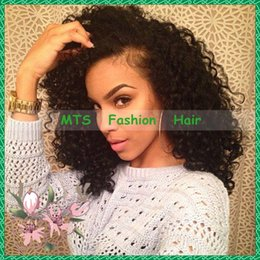 Wholesale Curly Hair Half Wigs Cheap - Cheap Glueless Full Lace Human Hair Wigs Kinky Curly Lace Front Wig Brazilian Virgin Hair With Baby Hair