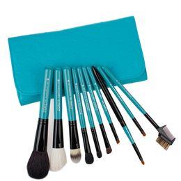 Wholesale Make Up Brushes Zoreya - Zoreya Brand 10pcs Goat Hair Makeup Brushes High Quality Cosmetics Brush Maquillage De Marque Make Up Tools