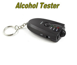 Wholesale Electronic Device Security - Wholesale-Free Shipping Alcohol Tester with Flashlight Electronic Breathalyser Traffic Police Testing Device Security and Healthy Tool