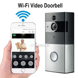 Wholesale Detection Camera Outdoor - Smart Video Doorbell 720P HD Wifi Security Camera 8GB Real-Time Night Vision, PIR Motion Detection For IOS Android Phone APP Control