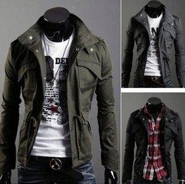 Wholesale Military Jacket For Thin Men - Thin 2015 New Fashion Brand Casual Men Jackets And Coat Military jacke Outerwear Coat High Quality Chaquetas Jackets For Men 4XL FG1511
