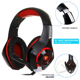 Wholesale Noise Computer - 3.5mm Gaming headphone Earphone Gaming Headset Headphone Xbox One Headset with microphone for pc ps4 playstation 4 laptop phone