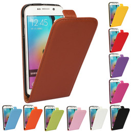 Wholesale Cover S4 Colorful - For Galaxy note 2 note 3 note 4 note 5 NOTE 5 EDGE Real Genuine Colorful Leather Vertical Flip Case Cover For Samsung S2 S3 S4 S5 S6 S6EDGE