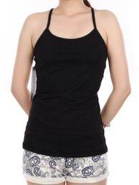 Wholesale Fun Fitness - Women Power Y Tank Top Shirts Black Yoga Gym Run Spin Fun Yoga Fitness Tops New 4 6 8 10