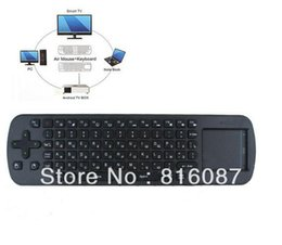 Wholesale Rc12 Fly Mouse - Wholesale-Wholesale Price 5pcs Lot 2.4G Mini wireless Russian keyboard fly air mouse RC12 for Android TV BOX mini PC for TV Player
