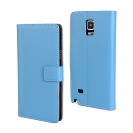 Wholesale Edge Active - GENUINE Wallet Credit Card Stand Leather Case For SAMSUNG Note 2 Note 3 Note Edge N9150 GRAND 2 G7106 S7 Active 50PCS LOT