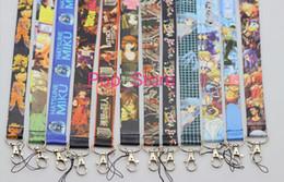 Il commercio all'ingrosso ha mescolato le cinghie mobili del collo della cordicella del collo della catena chiave delle cordicelle di anime giapponesi trasporto libero da