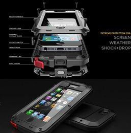 Wholesale Gorilla Case Dhl - Extreme Aluminum Silicone Corning Gorilla Glass Waterproof Shockpoof Dustproof For iphone 6s 6 Plus 5 5s DHL Free