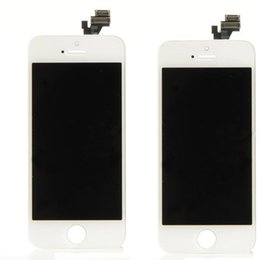Wholesale Lcd Iphone 4s White - White & Black For Iphone 4s 4c 5G 5S 5C 6 6plus LCD display assembly Replacement with Touch Screen Digitizer Assembly free shipping