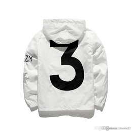 Wholesale Black Tours - KANYE Jacket Men KANYE Hip Hop Windbreaker TOUR 3 Jackets Men Women Streetwear Fashion Outerwear uniform coat black White YEEZUS Y3 Jacket