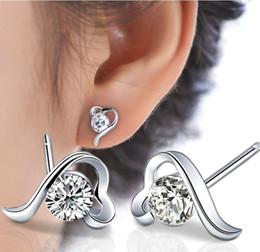 2015 vente chaude 925 boucles d'oreilles en argent sterling dame à première vue grade cristal bijoux classique rétro bijoux de mode ? partir de fabricateur