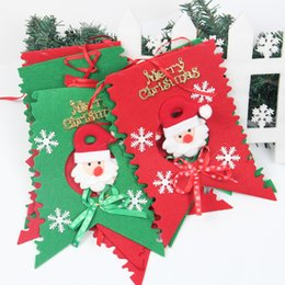 Wholesale Wholesale Church Decorations - Merry Christmas Decoration Flags Santa Clause Snowman Flags for Home KTV Bar Church Shopping Mall School Banquet Hall Corridor Xmas Decor