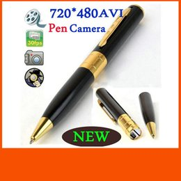 Wholesale Pen Hidden Video Camera - HOT!!!free shipping.Spy Pen Camera Hidden Pinhole DVR Camcorder Video Recorder 1280x960 supports MAX 64GB
