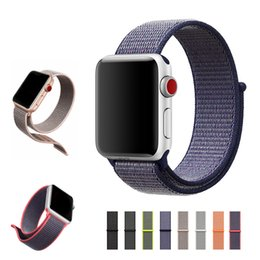 Wholesale Loop Bands - Sport nylon loop for apple watch band for iwatch series 3 2 1 42mm