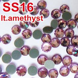 Wholesale Hotfix Ss16 Amethyst - Free Shipping ,Big Promotion ! 2013New Style ,A+DMC Hotfix Rhinestone,ss16,Color Light Amethyst,Not Satify? Return&Refund! Y0156