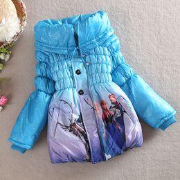 Wholesale Coat Warm Outwears Kids - Hot Frozen Clothing for Baby Girl Children Frozen Jackets Clothes Kids Winter Coat Elsa Anna Outwears Warm Clothing Girls Frozen Costume