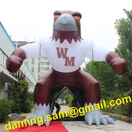 Wholesale Inflatable Event Tents - Popular Giant custom Outdoor inflatabe eagle tunnel   tent for Football game event decoration