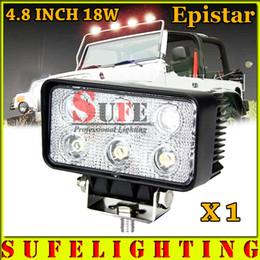 Wholesale Lamp For Up Car - US Stock 1PCS 4 INCH 18W Off Road LED Work Light Bar For Truck 4X4 SUV ATV Auto Back Up Lamp Car Fog Light Tractor Flood 12V 24V