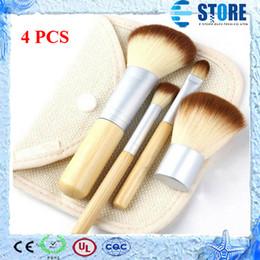Wholesale Stipple Powder Brush - New Hot 1set 4pcs Bamboo Professional Powder Blush Brush Facial Care Facial Beauty Cosmetic Stipple Foundation Brush Makeup Tool,wu