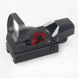 Wholesale Tactical Reticle Sight - Hunting Tactical 11mm Holographic 1X22X33 Reflex Red Green Dot Sight 4 Reticle Rifle Scope Airsoft Optical Scope HT5-0009