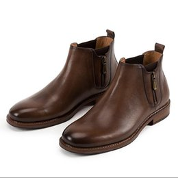 Wholesale wedding booties - NEW fashion Carved Genuine leather Men dress shoes,Male Business oxford shoe,Top Quality original brand,British style Handmade Booties D405