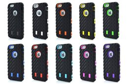 Wholesale Silicone Iphone 4s Covers - Tire Robot Hybrid Heavy Duty Rugged Shockproof Hard plastic Soft Silicone Case Skin Cover for iphone 4 4S 5 5S iphone 6 6G plus ipone 7