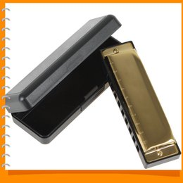 Wholesale Professional Diatonic Harmonica Golden Swan Harmonica Blues Reed Holes Tones Key of C G Musical Instrument Accessories