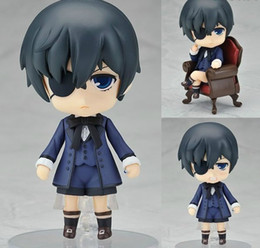"Wholesale Black Butler Toys - Free Shipping Cute 4"" Nendoroid Black Butler Kuroshitsuji Ciel PVC Action Figure Model Collection Toy"