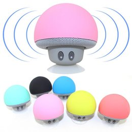 Wholesale Hot Cup Usb - Hot Mini Mushroom Speakers Bluetooth Wireless Speaker Silicone Suction Cup Subwoofers For Cell Phone Tablet PC
