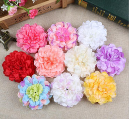 Wholesale Gerbera Flower Heads - Silk flowers wholesale rose heads artificial Small chrysanthemum flowers plastic flowers head high quality silk flowers free shipping WF002
