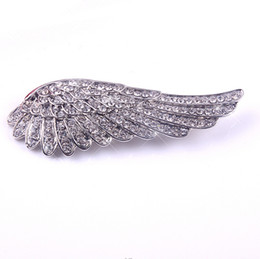 Wholesale Girls Fashion Clothing China - Women Fashion Clothes Scarves Fashion Pin Brooch Flying Angel Girl Wing Shiny Crystal Silver Plated Brooch Pin for Weeding Gift