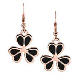 Wholesale Clover Diamond Earrings - Clover Earrings fashion diamond stud earring charm jewelry high quality wedding earring free shipping