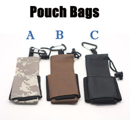 Wholesale Ego Pouch Bag - Carry Pouch Bag PU Leather Ego Bag E Cigarette Carring Pouch Ego Box Case Pouch With Hook For Mechanical Mod Ego X6 Kit