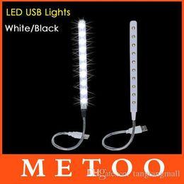Wholesale Super Cheap Notebooks - Super Cheap USB 10 LED Light Bright Soft Light Flexible usb lamp For Keyboard Read Notebook PC Laptop usb gadget 1pcs lot