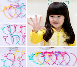 plastic hair crown Coupons - Kids Headbands Cat Ears Bunny Ears Crown bowknot 4 designs plastic with short combs Headband for girls children hair accessories hair band