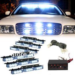 Wholesale Rear Blue Strobe - White 54 LED Emergency Vehicle Strobe Flash Lights for Front Deck Grille or Rear light