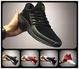 Wholesale Cheap Home Fabric - 2018 Cheap J Harden Vol.1 Boost PE Men Basketball Shoes James Harden 2 BHM Christmas Home Sports Sneakers White Black Gold
